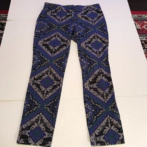 Chicos 1 Womens Gorgeous Print Slim Ankle Pants 32
